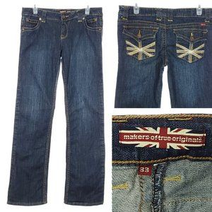 MAKERS OF TRUE ORIGINALS Straight Leg Jeans Dark